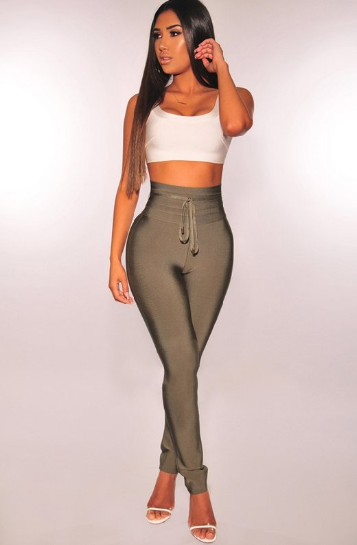 WAIST-SNATCHED-Olive-Bandage-High-Waist-Belted-Pants-5