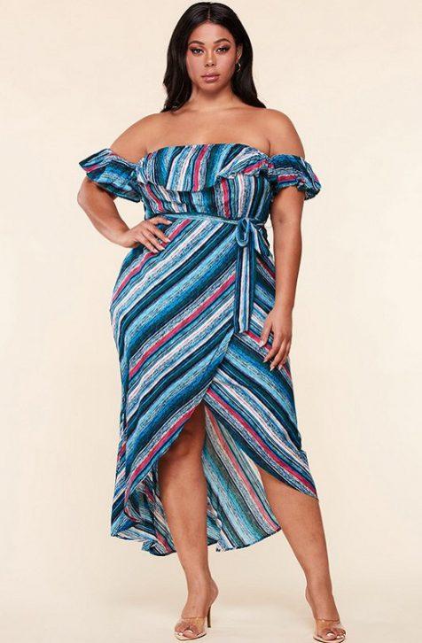 Hot Ruffle Midi Dress