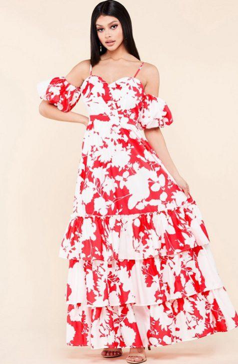 Sexy Ruffle Skirt Dress