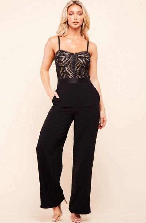 Black Sleeveless Hot Jumpsuit