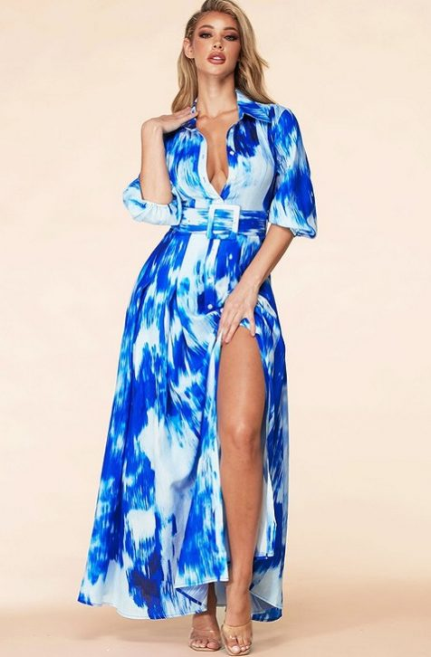 Hot Belted Maxi Dress