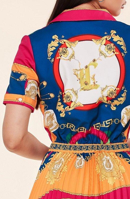 Tangerine Barocco Print Tie Front Maxi Dress 6