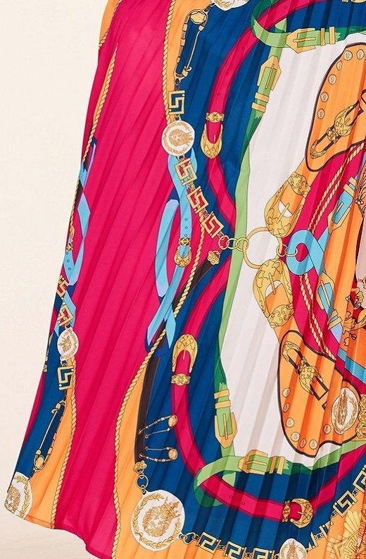 Tangerine Barocco Print Tie Front Maxi Dress 7