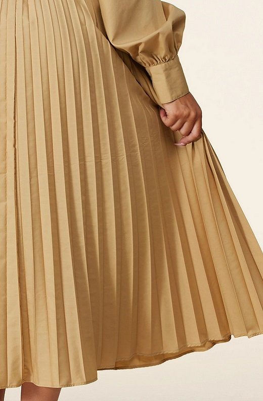 Beige Midi Off Shoulder Tasseled Tie-Waist Dress 5