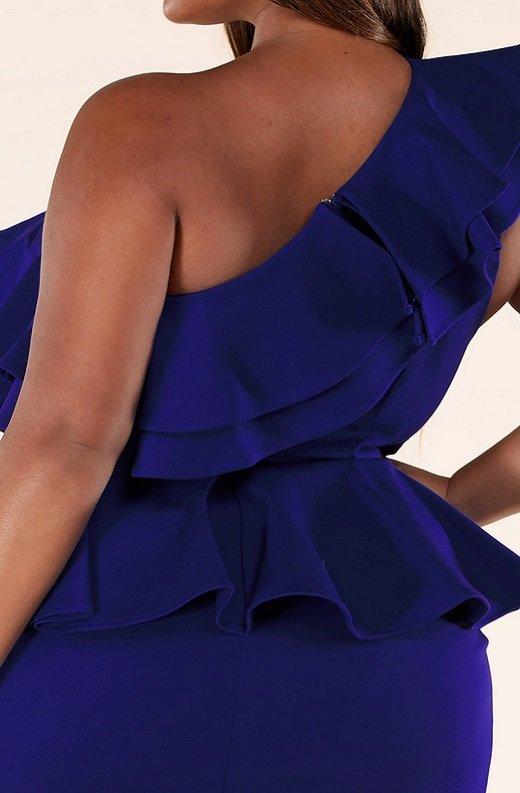 Royal Blue Midi Body Con Dress Plus Size 6